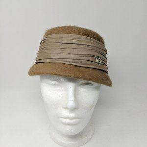 Vintage Accessories - Vintage I. Magnin Tan Felt Cloche Hat